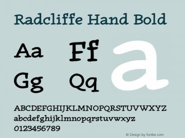 RadcliffeHand-Bold Version 1.000;PS 001.000;hotconv 1.0.88;makeotf.lib2.5.64775图片样张
