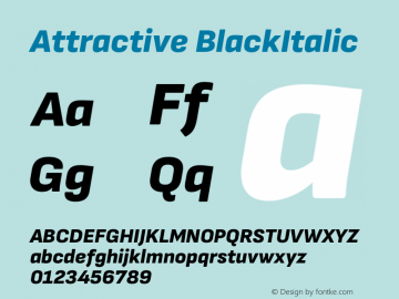 Attractive BlackItalic Version 3.001图片样张