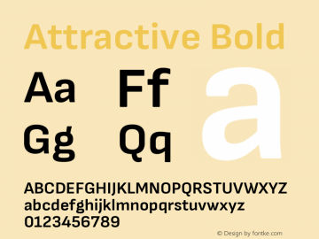 Attractive Bold Version 3.001图片样张