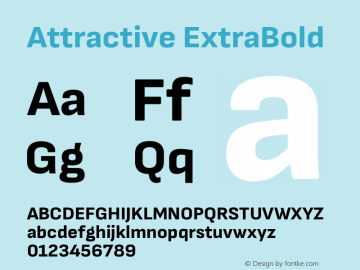 Attractive ExtraBold Version 3.001图片样张