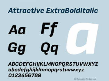 Attractive ExtraBoldItalic Version 3.001图片样张