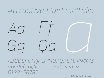 Attractive HairLineItalic Version 3.001图片样张