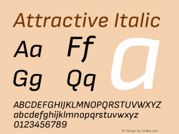 Attractive Italic Version 3.001图片样张