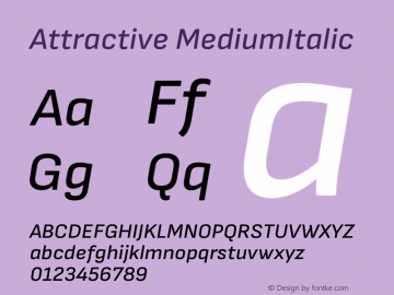 Attractive MediumItalic Version 3.001图片样张