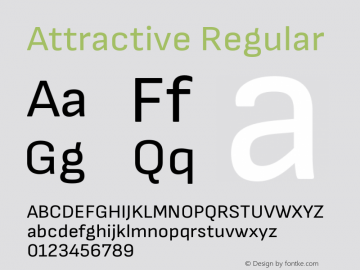 Attractive Regular Version 3.001图片样张