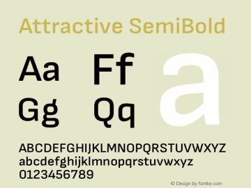 Attractive SemiBold Version 3.001图片样张