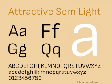 Attractive SemiLight Version 3.001图片样张