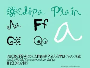 Oedipa Plain Altsys Fontographer 3.3  3/30/96 Font Sample