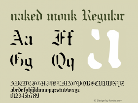 naked monk Regular Unknown Font Sample