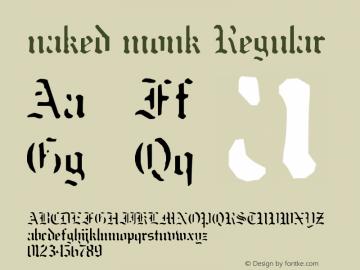 naked monk Regular Unknown Font Sample