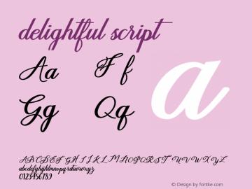 delightful-script Version 1.000图片样张