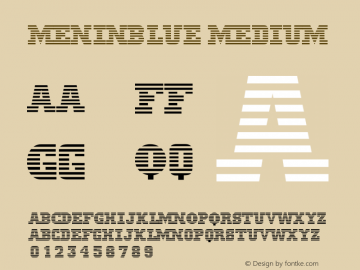 MeninBlue Medium Version 001.000 Font Sample