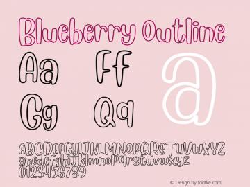 Blueberry Outline Version 1.00;January 28, 2019;FontCreator 11.5.0.2430 64-bit图片样张