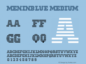 MeninBlue Medium Version 001.000 Font Sample