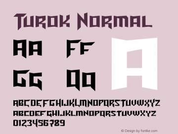 Turok Normal Unknown Font Sample