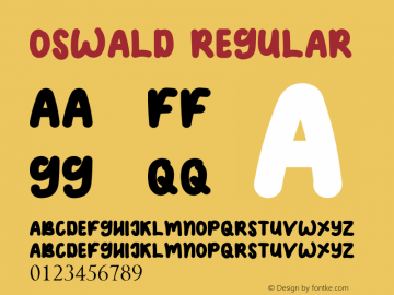 OSWALD Version 1.00;February 13, 2019;FontCreator 11.5.0.2430 64-bit图片样张