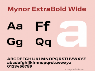 Mynor ExtraBold Wide Version 001.000 January 2019;YWFTv17图片样张