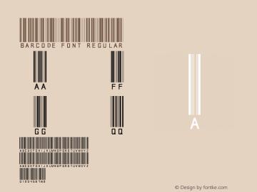 barcode font Regular 002.000 Font Sample