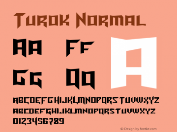 Turok Normal Version 1.0 Font Sample