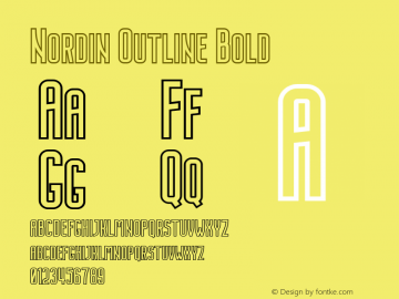 Nordin Outline Bold 1.0图片样张