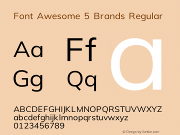 Font Awesome 5 Brands Regular 329.474 (Font Awesome version: 5.7.2)图片样张