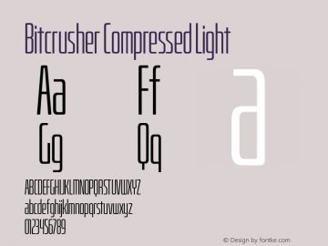 BitcrusherCmLt-Regular Version 1.000 | wf-rip DC20190205图片样张