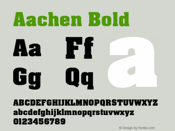 Aachen-Bold Version 001.000图片样张