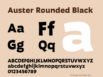 Auster Rounded Black Version 1.000;PS 001.000;hotconv 1.0.88;makeotf.lib2.5.64775图片样张