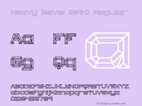 Heavy Bevel (BRK) Regular Version 1.25 Font Sample