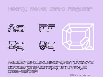 Heavy Bevel (BRK) Regular Version 1.25 Font Sample