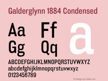 Galderglynn1884CdRg-Regular Version 1.000图片样张