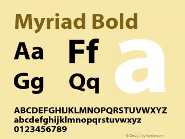 Myriad    Bold Fontographer 4.7 4/18/08 FG4M0000001208图片样张