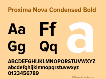 ProximaNova-CondensedBold Version 1.000;PS 001.000;hotconv 1.0.38图片样张