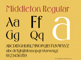 Middleton Regular Altsys Fontographer 3.5  3/13/92 Font Sample