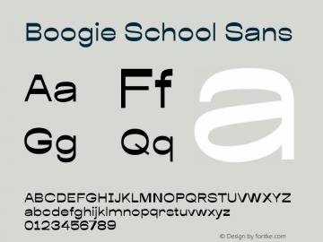 Boogie School Sans Version 1.000图片样张