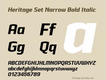 HeritageSetNarrowBoldItalic Version 2.500;YWFTv17图片样张