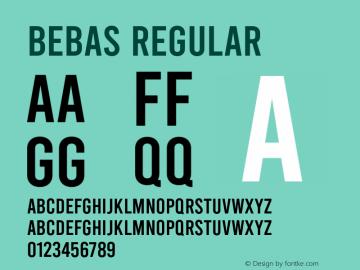 Bebas Regular Version 1.100;PS 001.100;hotconv 1.0.88;makeotf.lib2.5.64775图片样张