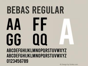 Bebas Regular Version 1.100图片样张