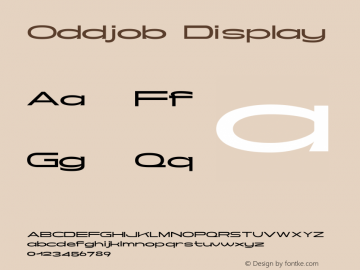 Oddjob Display Version 001.000图片样张