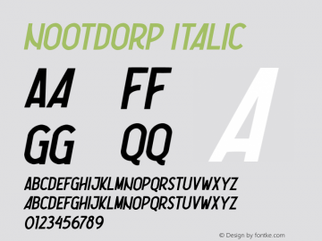 Nootdorp-Italic Version 1.000;PS 001.001;hotconv 1.0.56图片样张