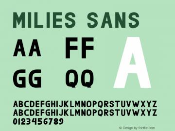 milies Sans Version图片样张