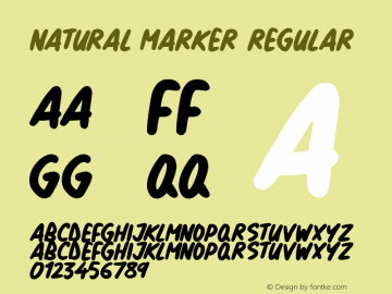 Natural Marker Version 1.00 March 14, 2019, initial release图片样张