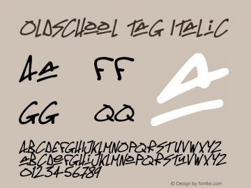 Oldschool Tag Italic Version 1.00 March 14, 2019, initial release图片样张