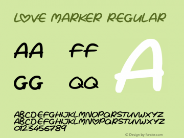 Love Marker Version 1.00 March 15, 2019, initial release图片样张