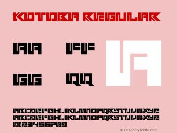 Kotoba Version 1.00;March 14, 2019;FontCreator 11.5.0.2430 64-bit图片样张