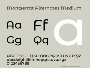 Montserrat Alternates Medium Version 7.200图片样张