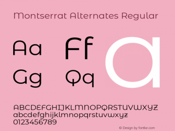 Montserrat Alternates Regular Version 7.200图片样张
