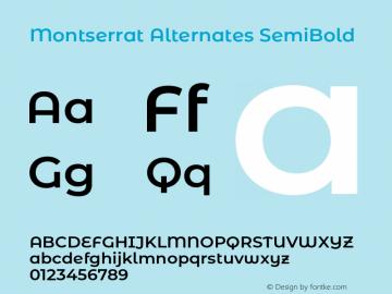 Montserrat Alternates SemiBold Version 7.200;PS 007.200;hotconv 1.0.88;makeotf.lib2.5.64775图片样张