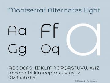 Montserrat Alternates Light Version 7.200图片样张