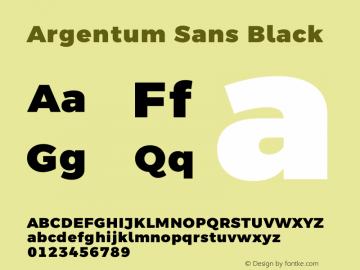 Argentum Sans Black Version 5.001;March 13, 2019;FontCreator 11.5.0.2425 64-bit图片样张